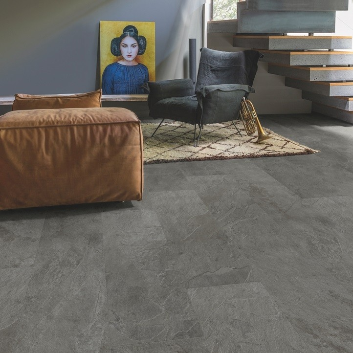 conels grey slate vinyl flooring image
